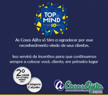 Casas Ajita 2º lugar Top of Mind Maringá